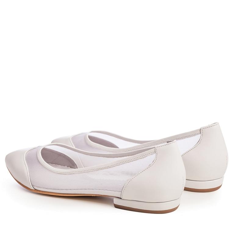 Balerini mireasa albi cu plasa April