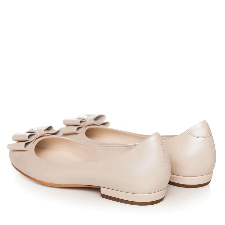 Balerini mireasa ivory perlat cu funda si cristale Alice