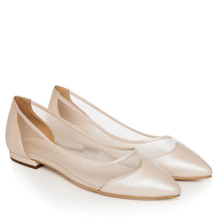 Balerini mireasa Ivory perlat cu plasa April