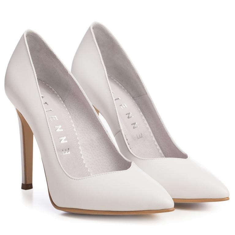 Pantofi mireasa albi Classy