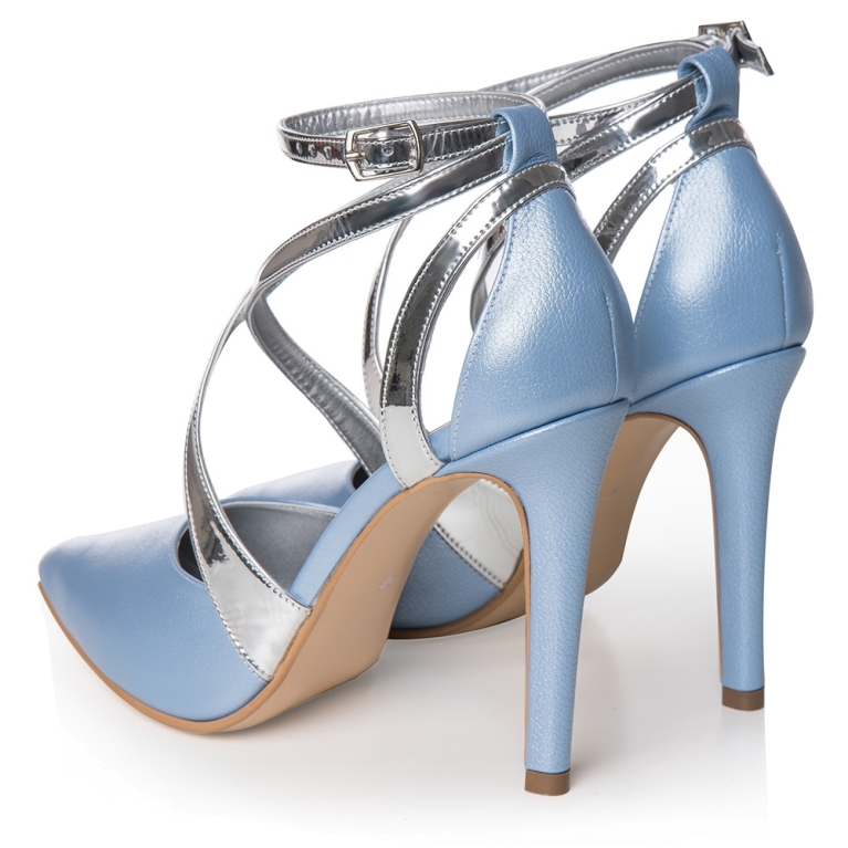 Pantofi mireasa bleu ciel Inés
