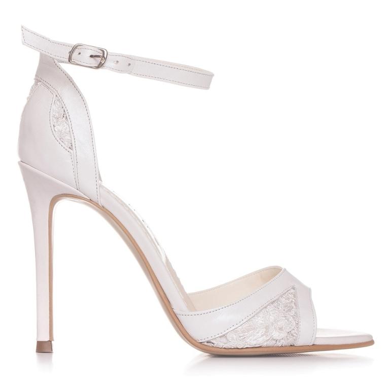 Sandale de mireasa THÉRÈSE 100MM cu dantela
