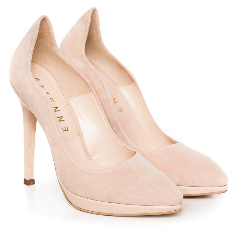 Pantofi mireasa nude cu platforma Nina