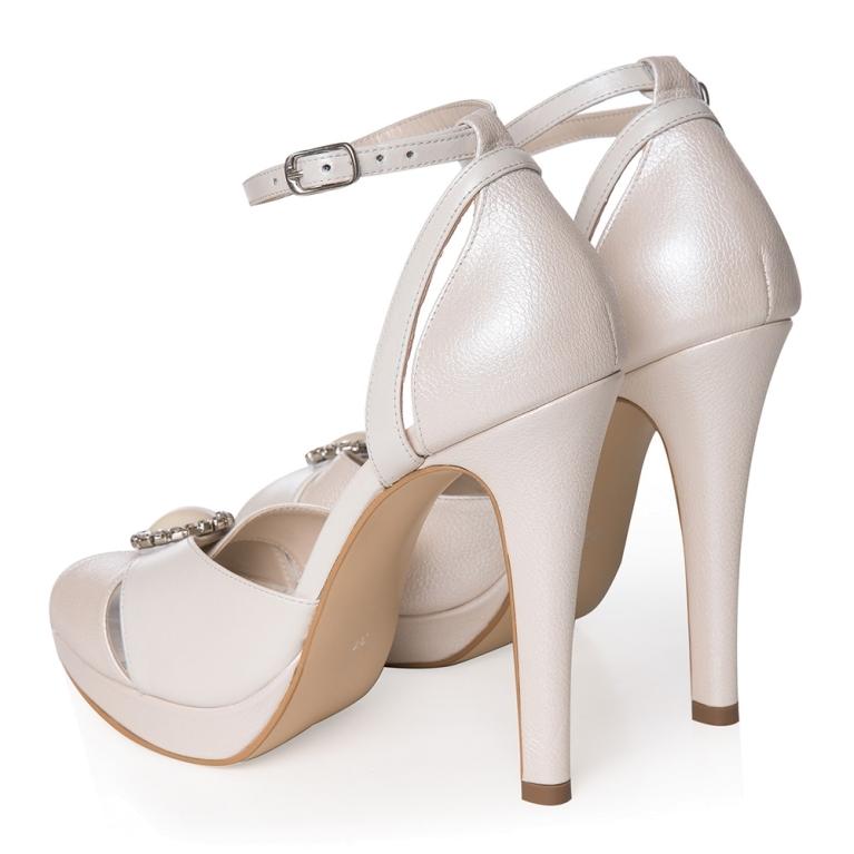 Sandale de mireasa cu platforma ivory sidef Joséphine