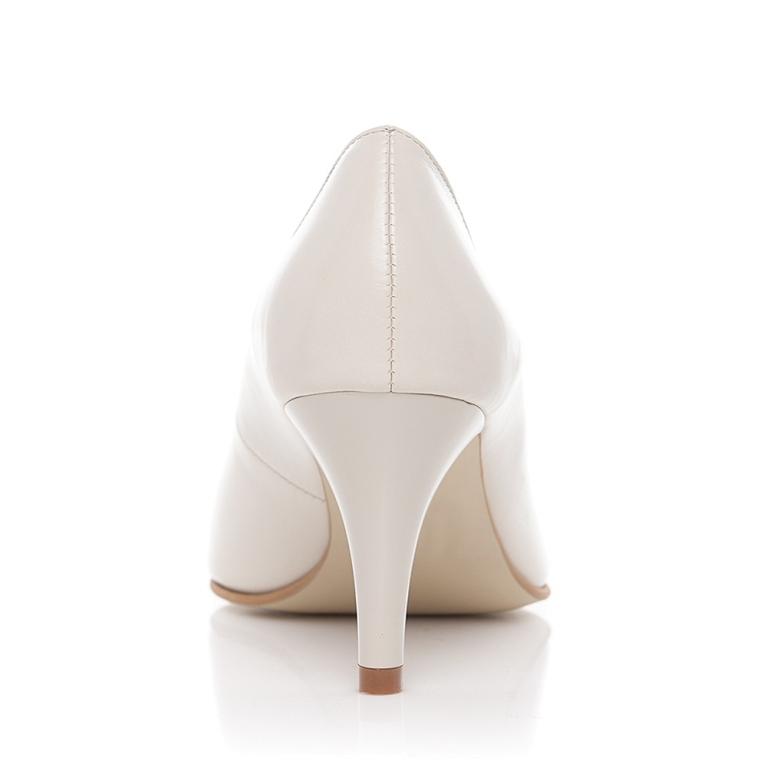Pantofi mireasa ivory cu toc mic Comfy