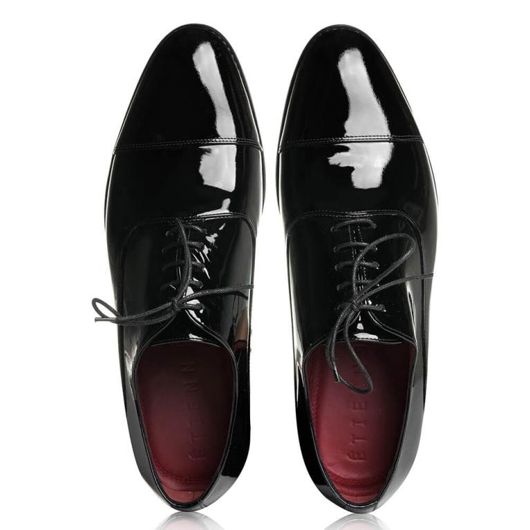 Pantofi de ceremonie lac negru Sébastien