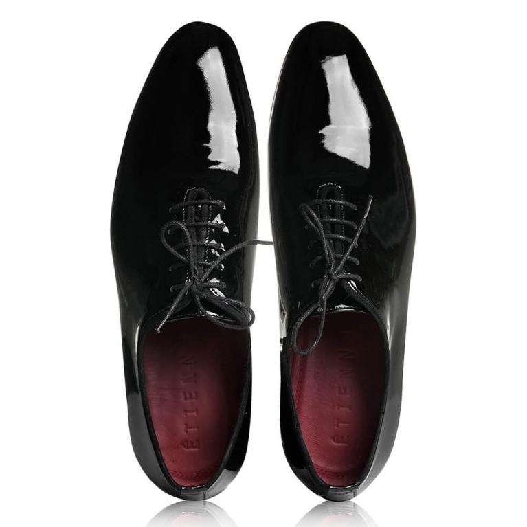 Pantofi de ceremonie lac negru Pierre