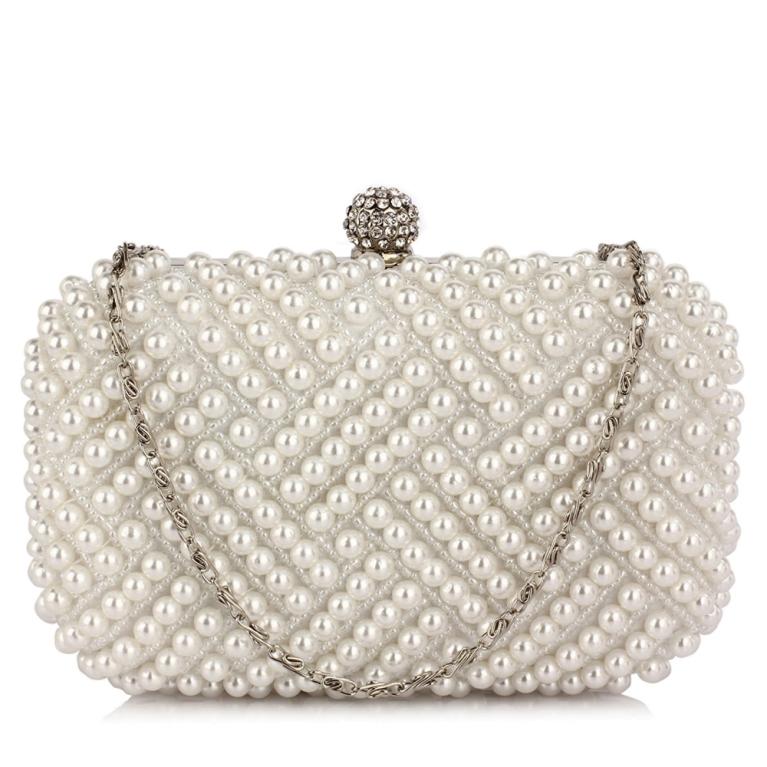 Plic de mireasa cu perle albe Evelyn