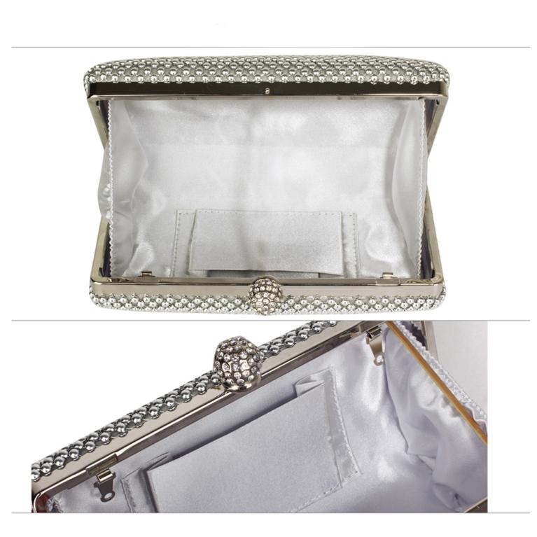 Plic de ocazie argintiu cu pietre Crystal