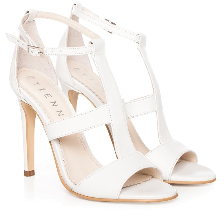 Sandale mireasa albe Bianca