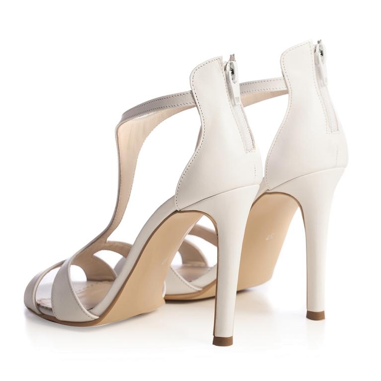 Sandale mireasa albe Chandelier