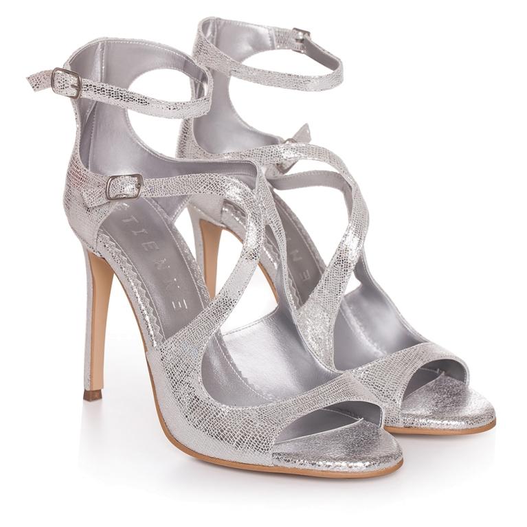 Sandale de ocazie argintii ÉVELYNE 100MM