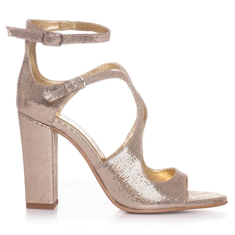 Sandale de ocazie aurii ÉVELYNE 100MM