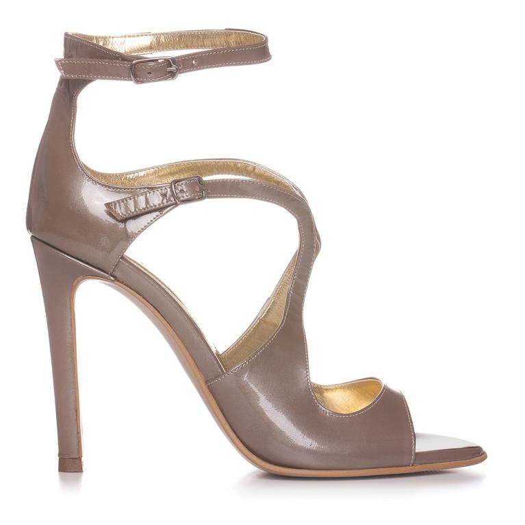Sandale de ocazie cappuccino ÉVELYNE 100MM