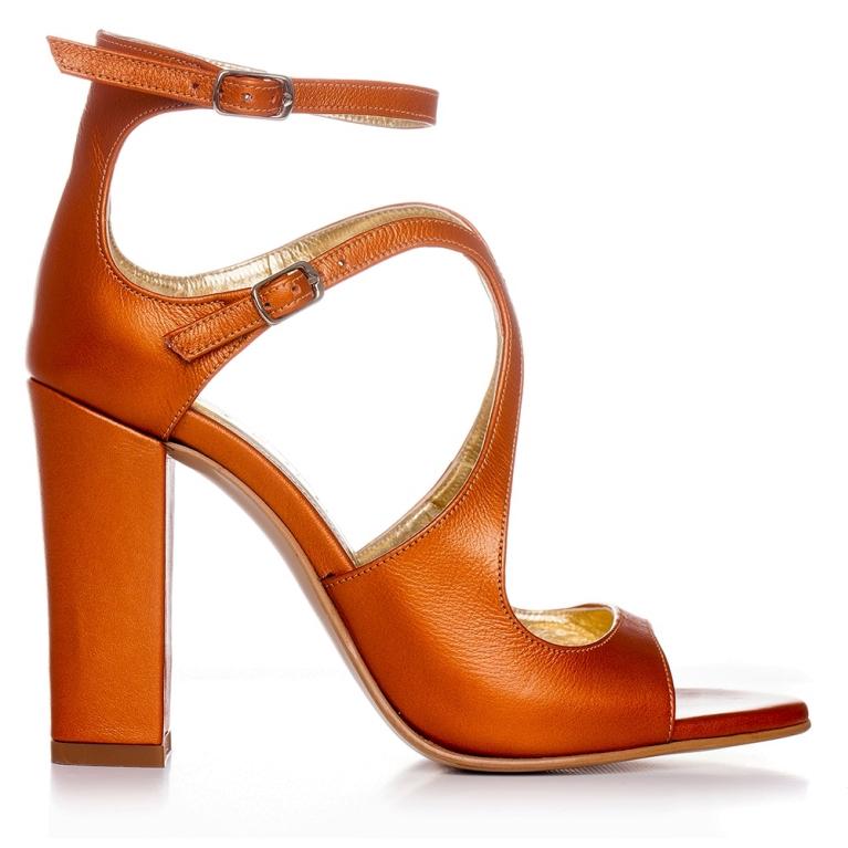 Sandale de ocazie portocalii ÉVELYNE 100MM