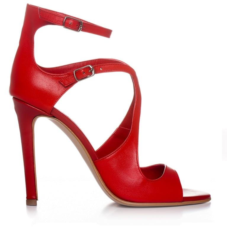 Sandale de ocazie rosii ÉVELYNE 100MM